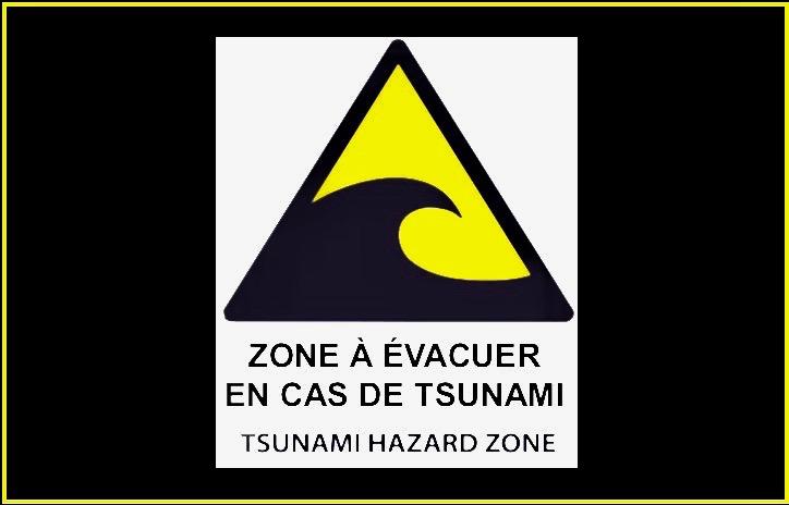 Plans évacuation tsunamis